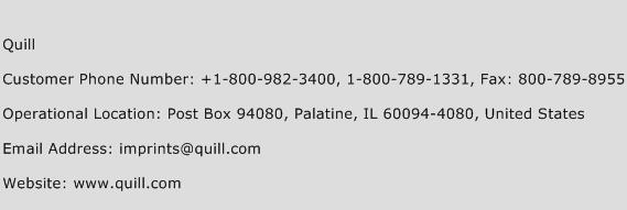 Quill Phone Number Customer Service