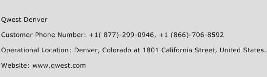 Qwest Denver Phone Number Customer Service