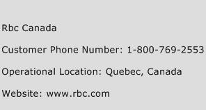 RBC Canada Phone Number Customer Service