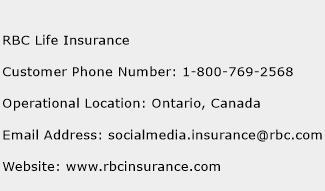 RBC Life Insurance Phone Number Customer Service