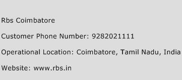 RBS Coimbatore Phone Number Customer Service
