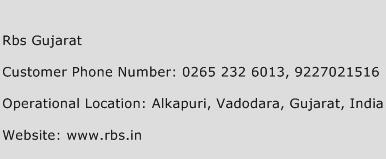 RBS Gujarat Phone Number Customer Service