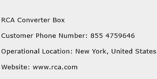 RCA Converter Box Phone Number Customer Service