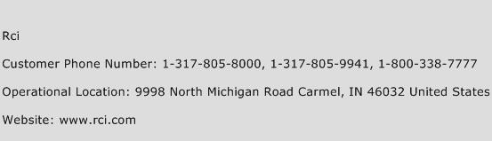 RCI Phone Number Customer Service