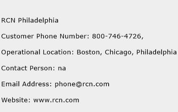 RCN Philadelphia Phone Number Customer Service