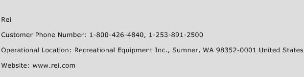 REI Phone Number Customer Service