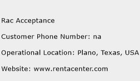 Rac Acceptance Phone Number Customer Service