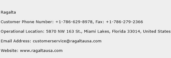 Ragalta Phone Number Customer Service