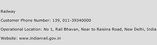 Railway Phone Number Customer Service