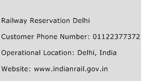 Railway Reservation Delhi Phone Number Customer Service