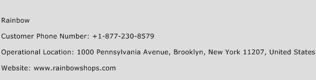 Rainbow Phone Number Customer Service