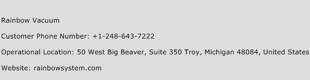 Rainbow Vacuum Phone Number Customer Service