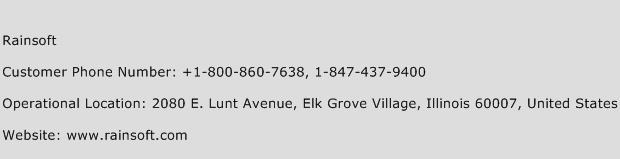 Rainsoft Phone Number Customer Service