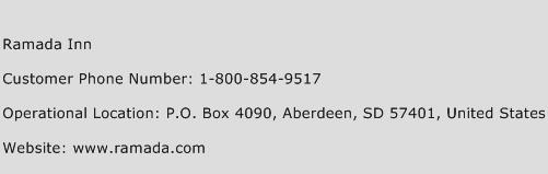 Ramada Inn Phone Number Customer Service