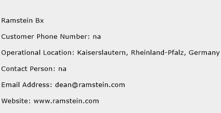 Ramstein Bx Phone Number Customer Service