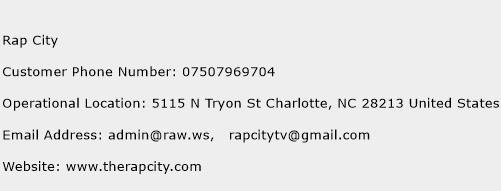 Rap City Phone Number Customer Service