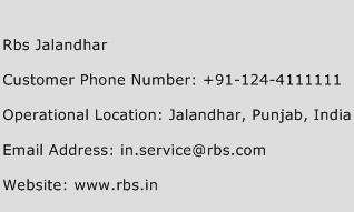Rbs Jalandhar Phone Number Customer Service