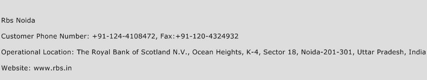 Rbs Noida Phone Number Customer Service