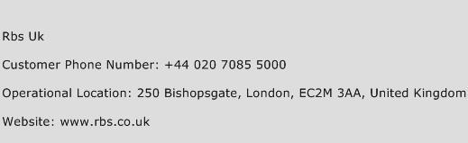 Rbs Uk Phone Number Customer Service