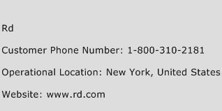 Rd Phone Number Customer Service