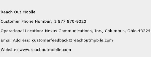 Reach Out Mobile Phone Number Customer Service