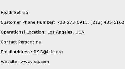 Readi Set Go Phone Number Customer Service