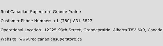 Real Canadian Superstore Grande Prairie Phone Number Customer Service