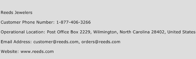 Reeds Jewelers Phone Number Customer Service