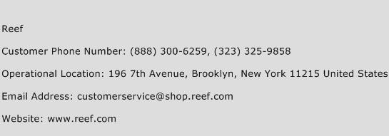 Reef Phone Number Customer Service