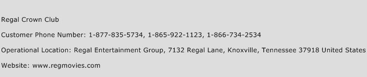 Regal Crown Club Phone Number Customer Service