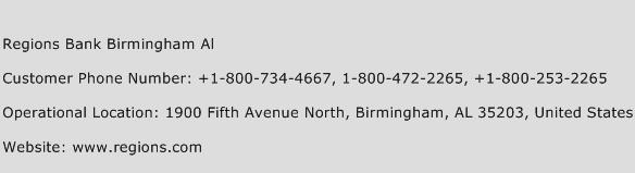 Regions Bank Birmingham Al Phone Number Customer Service