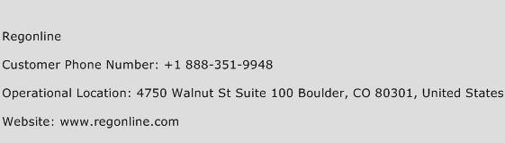Regonline Phone Number Customer Service