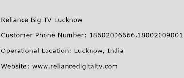 Reliance Big TV Lucknow Phone Number Customer Service
