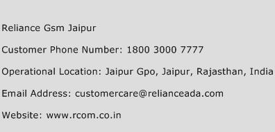 Reliance Gsm Jaipur Phone Number Customer Service