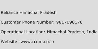 Reliance Himachal Pradesh Phone Number Customer Service