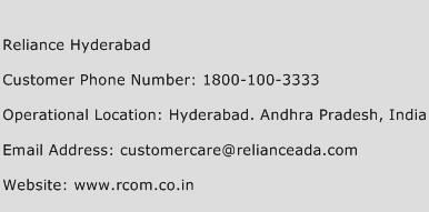 Reliance Hyderabad Phone Number Customer Service