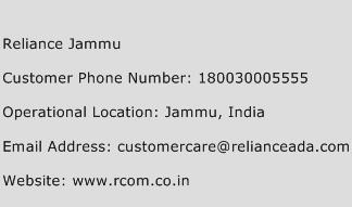 Reliance Jammu Phone Number Customer Service