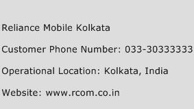 Reliance Mobile Kolkata Phone Number Customer Service