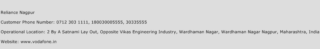 Reliance Nagpur Phone Number Customer Service