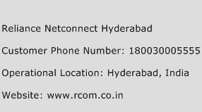 Reliance Netconnect Hyderabad Phone Number Customer Service