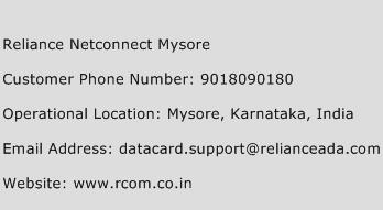 Reliance Netconnect Mysore Phone Number Customer Service
