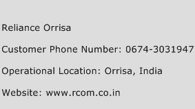 Reliance Orrisa Phone Number Customer Service