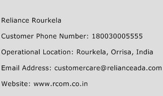 Reliance Rourkela Phone Number Customer Service