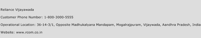 Reliance Vijayawada Phone Number Customer Service