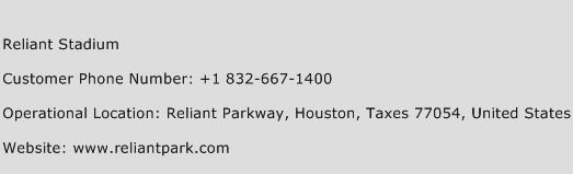 Reliant Stadium Phone Number Customer Service