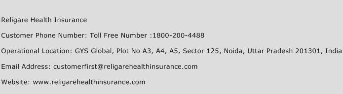 Religare Health Insurance Phone Number Customer Service