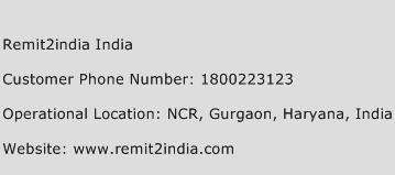 Remit2india India Phone Number Customer Service
