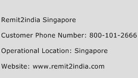 Remit2india Singapore Phone Number Customer Service