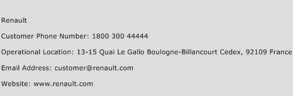 Renault Phone Number Customer Service