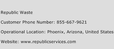 Republic Waste Phone Number Customer Service
